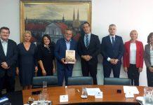 Izaslanstvo HKD Napredak na prijemu u Gradskoj upravi Grada Zagreba