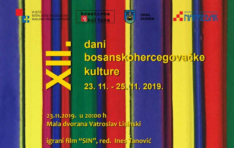NAJAVA: Počinju XII. Dani bosanskohercegovačke kulture